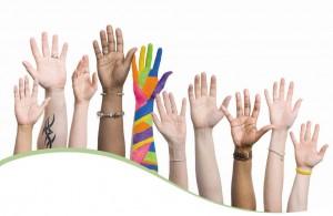 hands representing diversity