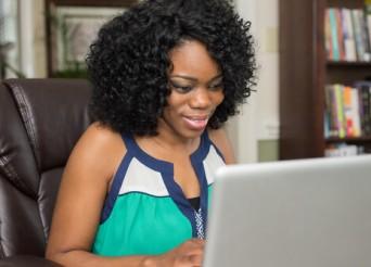 Black Lady in office